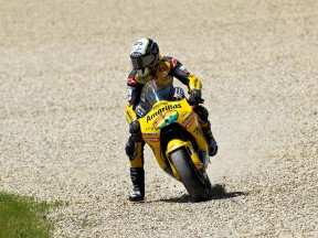 Héctor Barberá during the MotoGP race at Mugello