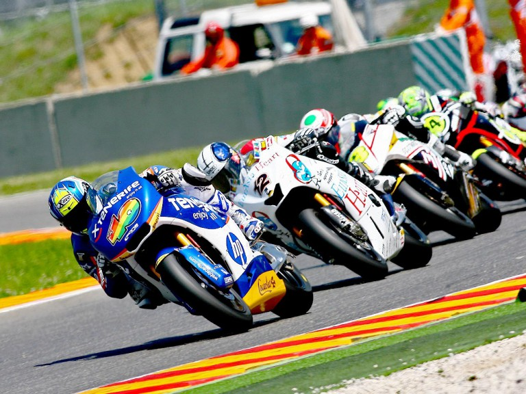 Sergio Gadea riding ahead of Moto2 riders