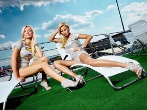 Paddock girsl at the Gran Premio D´Italia Tim