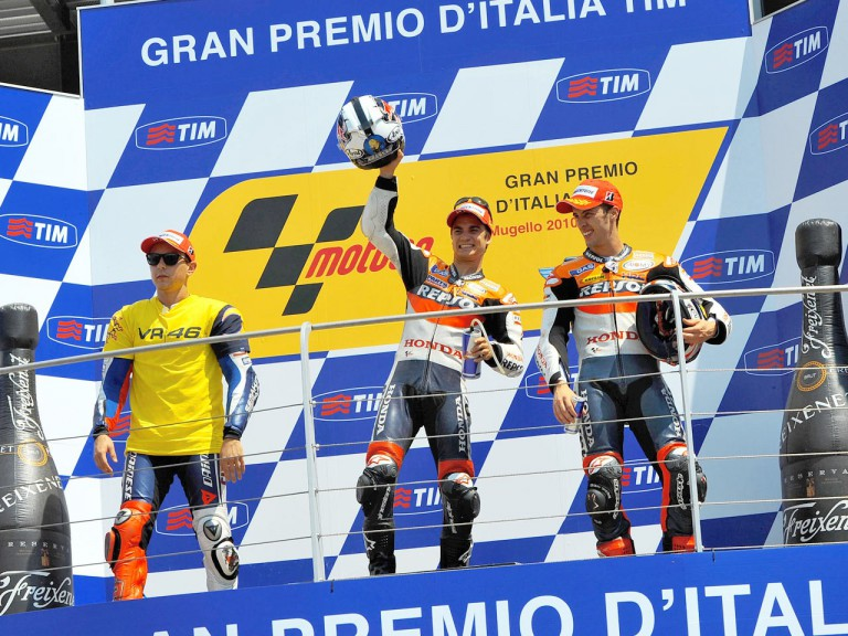 Lorenzo, Pedrosa and Dovizioso on the  podium in Mugello