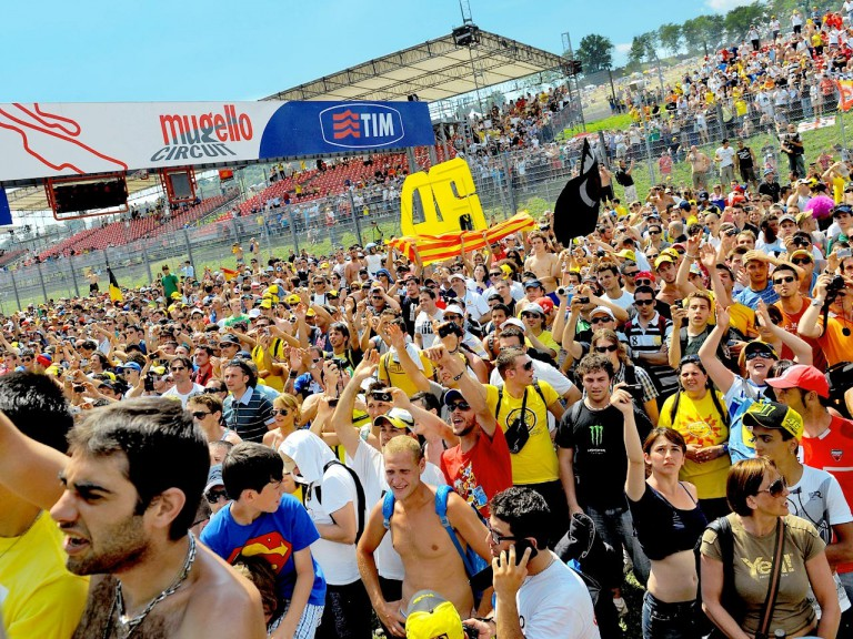 Rossi fans ambient at the Gran Premio D´Italia Tim