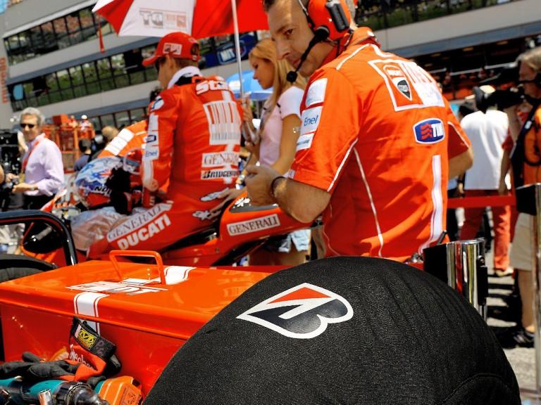 Bridgestone support at the grid