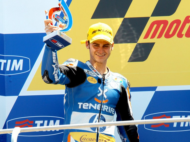 Sergio Gadea on the podium in Mugello