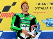 Andrea Iannone on the podium in Mugello