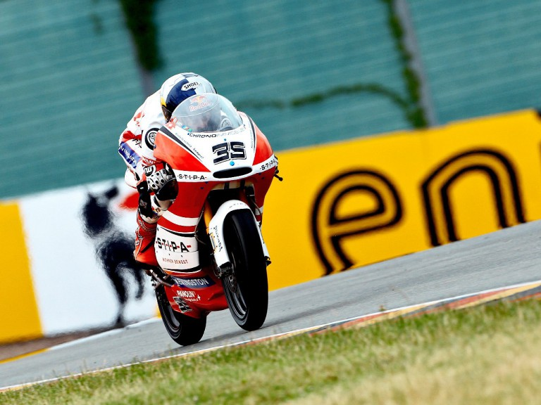 Randy Krummenacher in action in Sachsenring