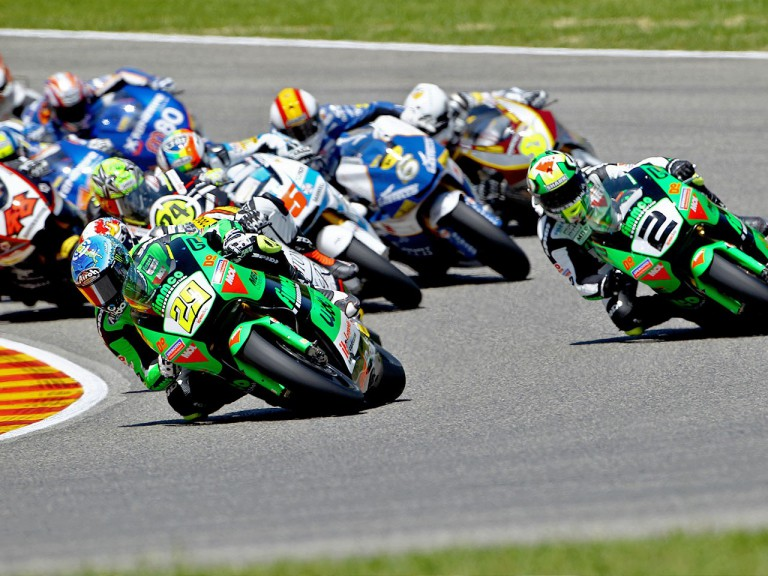 Moto2 group in action in Mugello