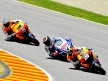 Pedrosa riding ahead of Lorenzo and Dovizioso during the Race at Mugello