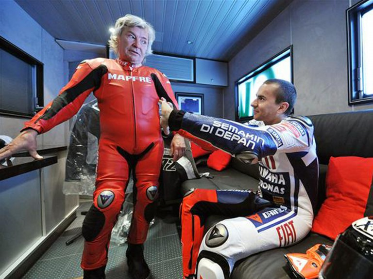 Angel Nieto and Jorge Lorenzo at the Isle of Man TT