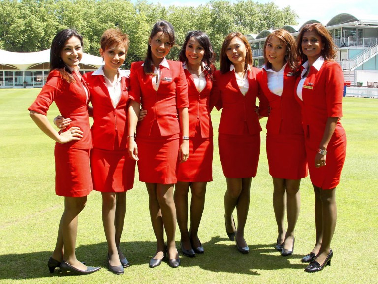AirAsia Stewardess at Lord´s Cricket Ground
