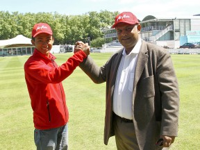 Khairuddin Zulfahmi and Air Asia´s Tony Fernandes at Lord´s Cricket Ground