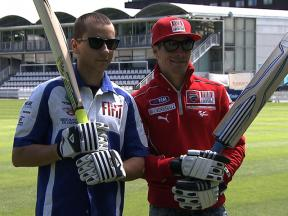 MotoGP stars play cricket in London