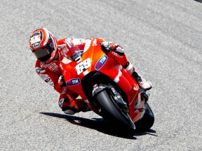 Nicky Hayden on track