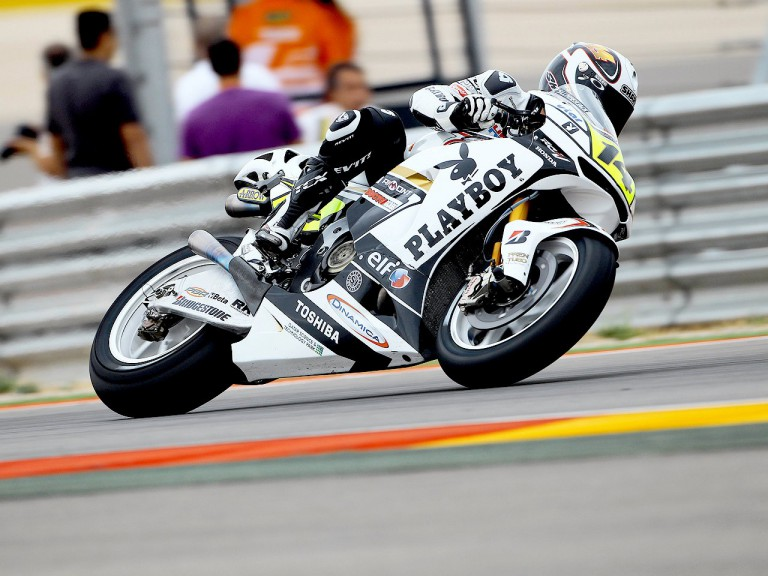 Randy de Puniet in action at Motorland Aragón
