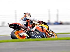 Andrea Dovizioso in action in Silverstone