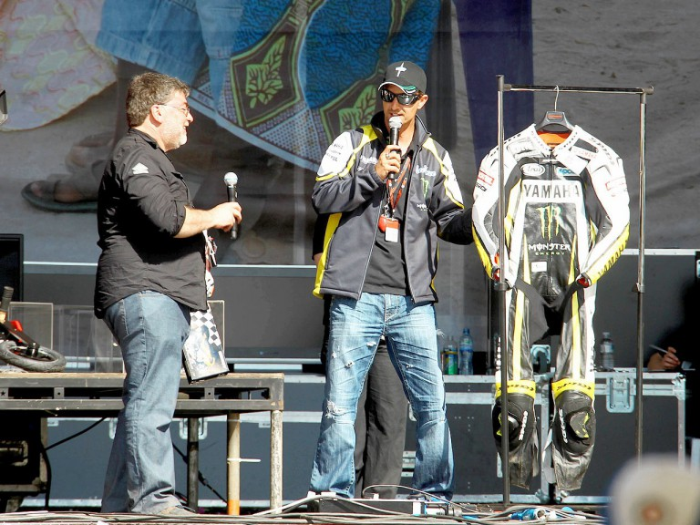Colin Edwards supporting Day of Champions in Silverstone