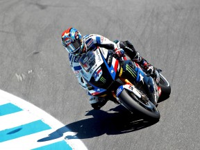 Colin Edwards in action in Laguna Seca