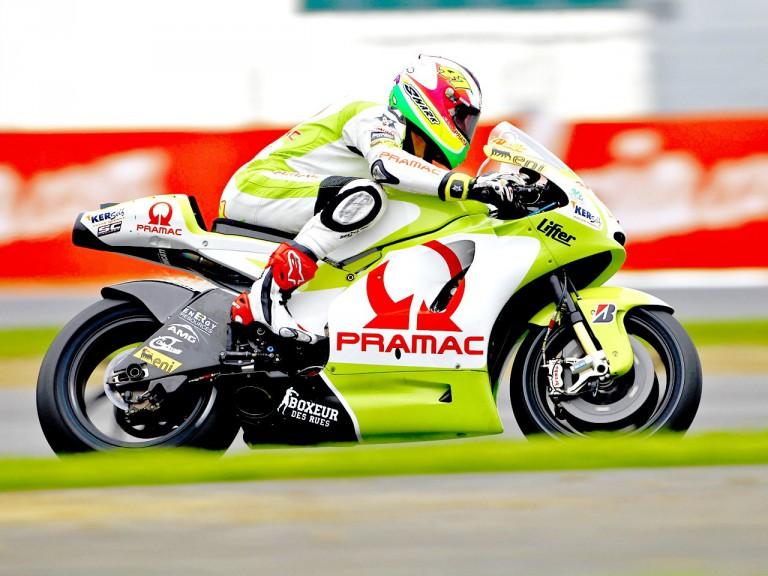 Aleix Espargaró in action in Silverstone