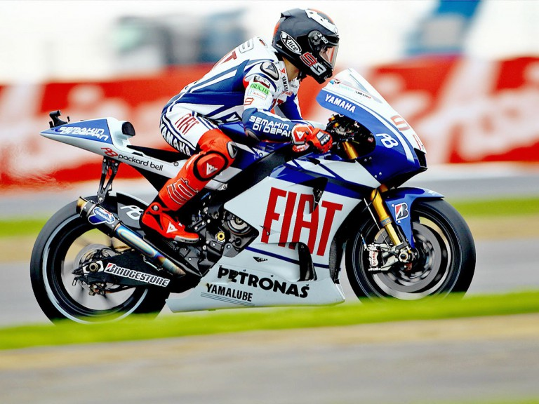 Jorge Lorenzo in action in Silverstone
