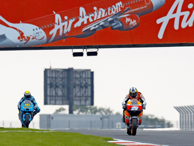 Pedrosa and Bautista in action in Silverstone