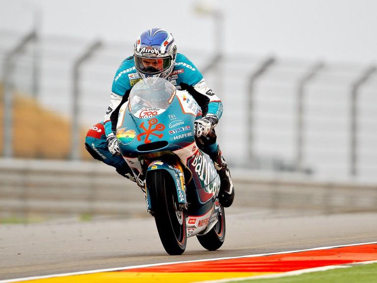 Nico Terol ina ction at Motorland Aragón
