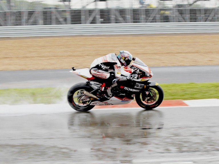 Shoya Tomizawa in action in Silverstone