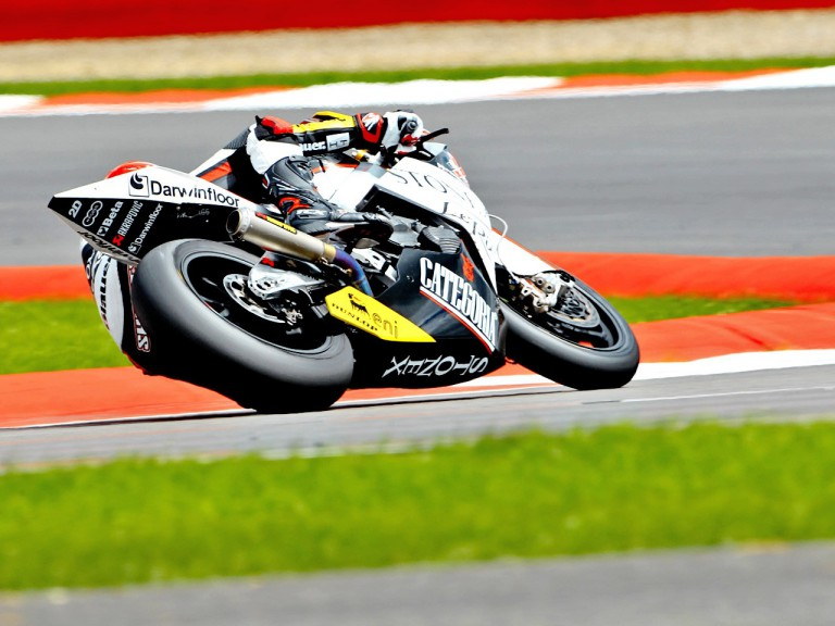 Claudio Corti in action at Silverstone