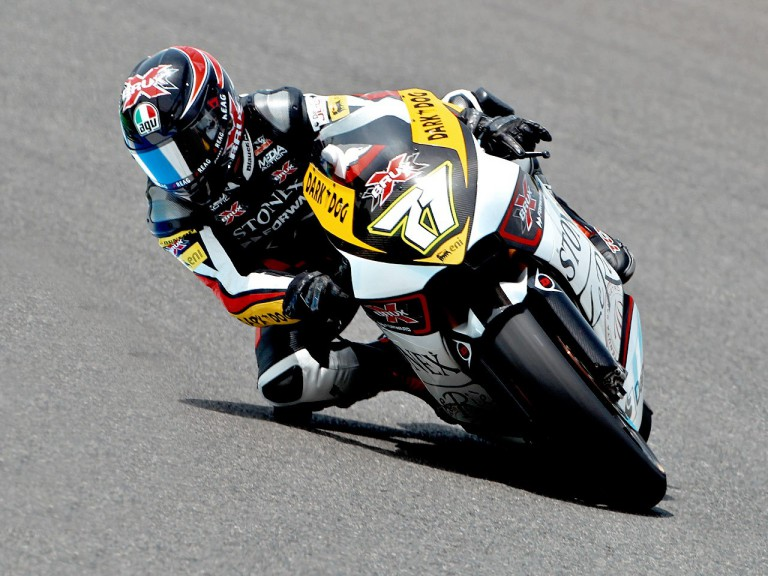 Claudio Corti in action in Silverstone