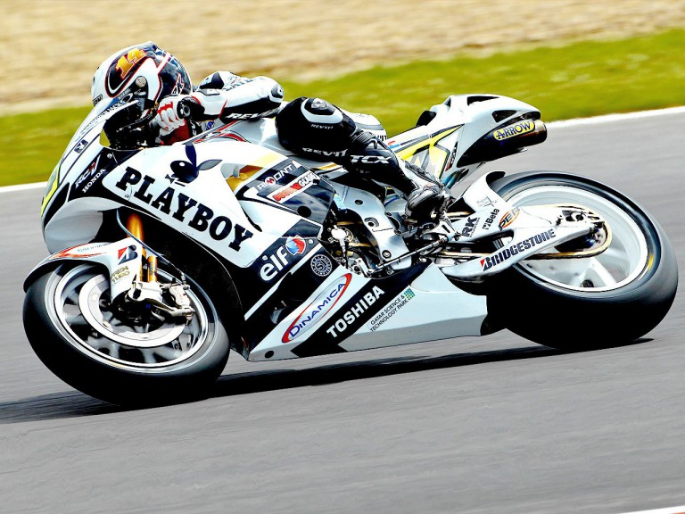Randy de Puniet in action at Silverstone