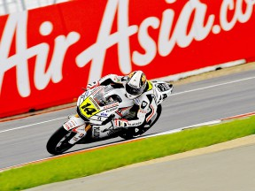 Randy de Puniet ina ction at Silverstone
