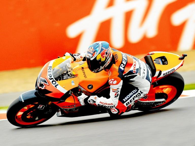 Andrea Dovizioso on track at Silverstone