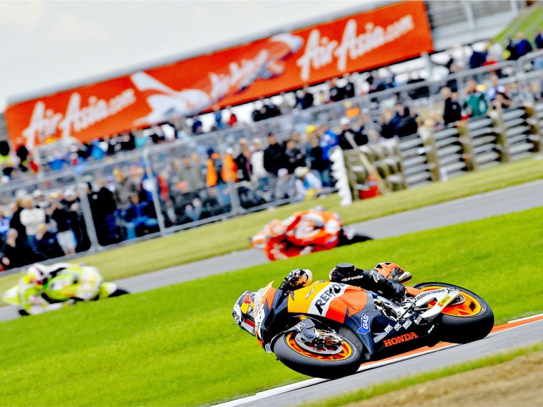MotoGP action during QP at Silverstone