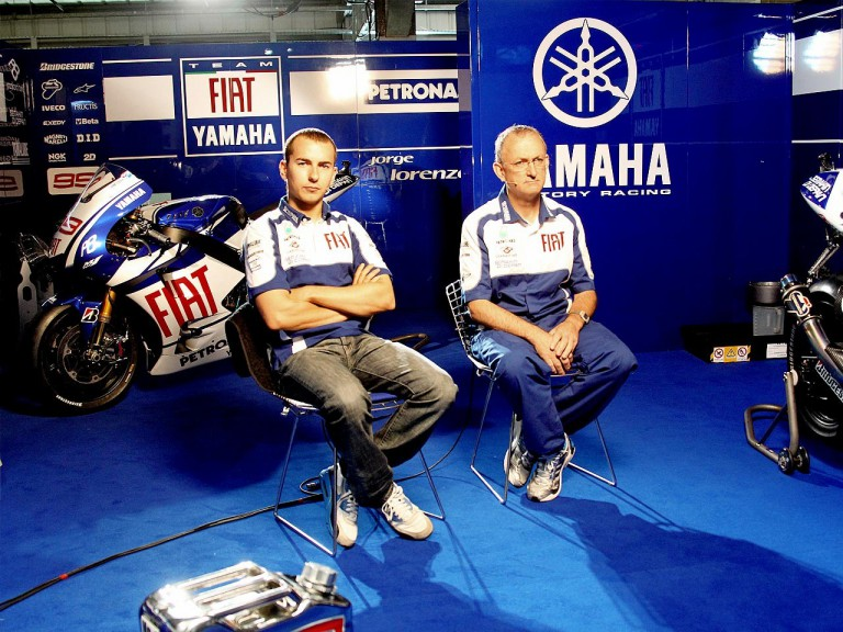 Jorge Lorenzo and Crew Chief Ramon Forcada