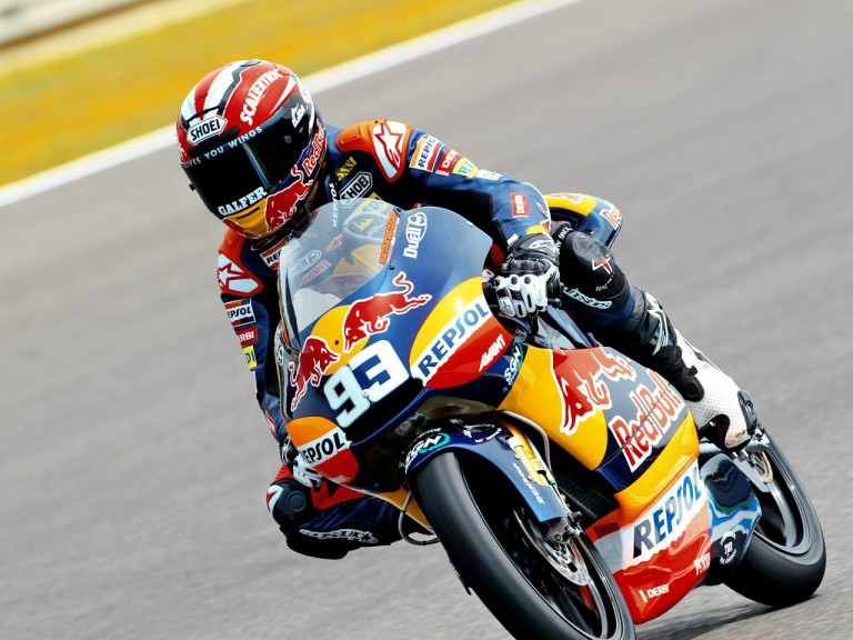 Marc Marquez in action in Silverstone