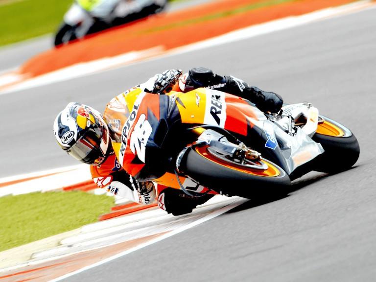 Dani Pedrosa in action at Silverstone