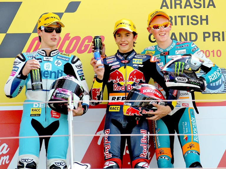 Espargaró, Marquez and Smith on the  podium at Silverstone