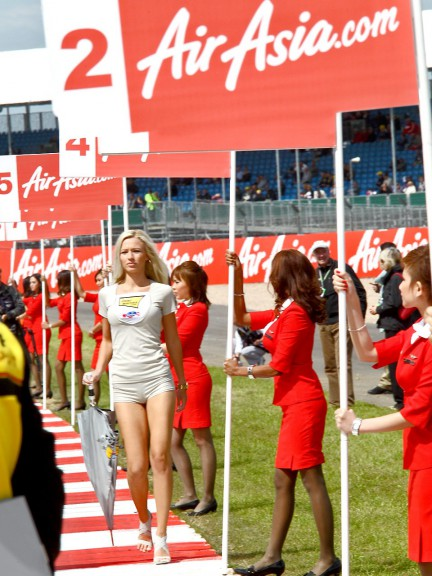 Paddock Girl at the AirAsia British Grand Prix