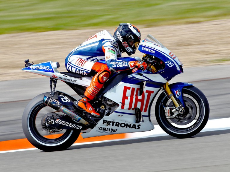 Jorge Lorenzo in action at Silverstone