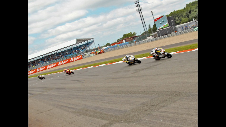 Cluzel, Luthi and Simon during the race at Silverstone