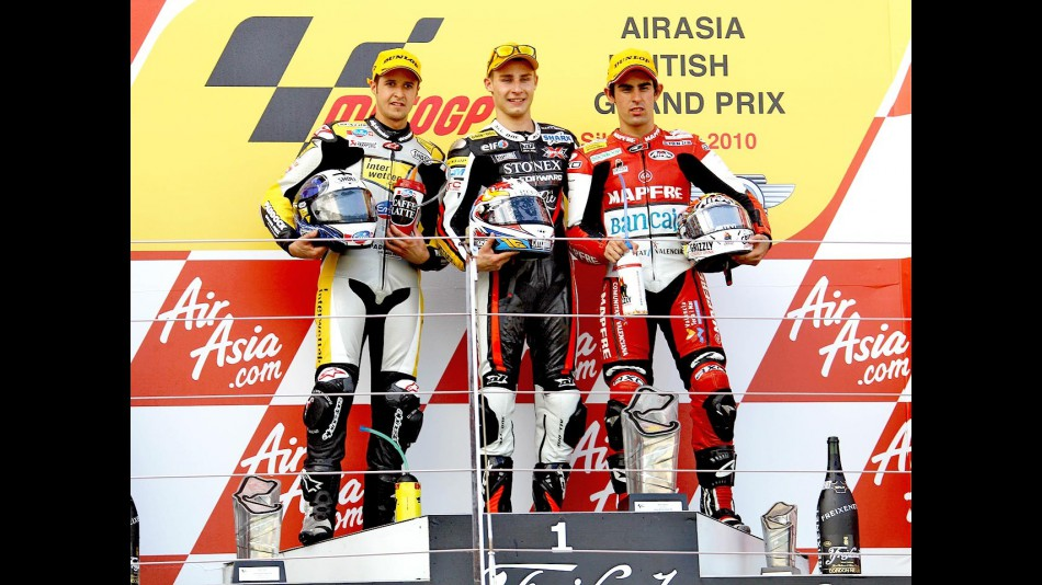 Luthi, Cluzel and Simon on the podium in Silverstone