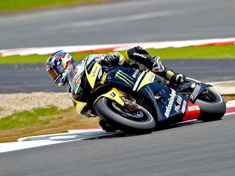 Colin Edwards in action at Silverstone