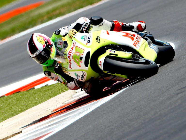 Aleix Espargaró in action at Silverstone