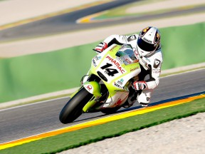 Randy de Puniet in action at Valencia test