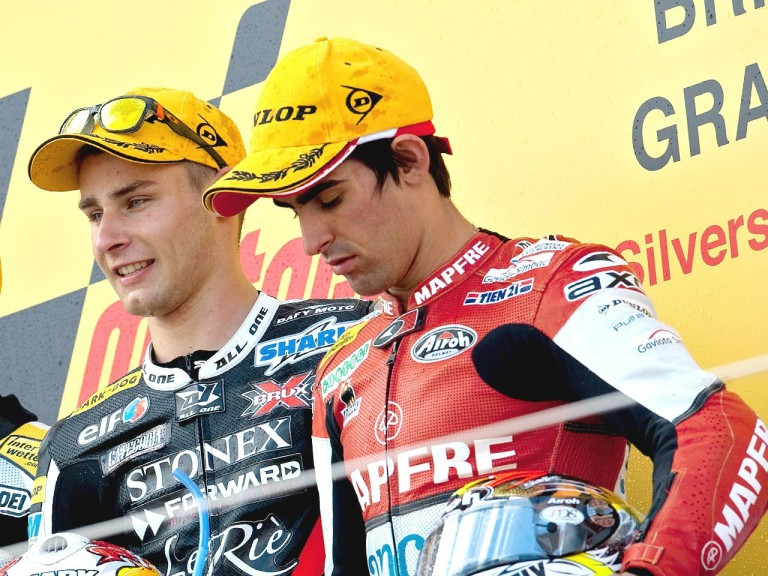 Simón and Cluzel on the podium at Silverstone