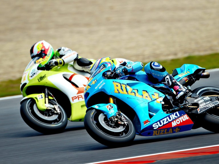 Bautista and Espargaró in action at Silverstone