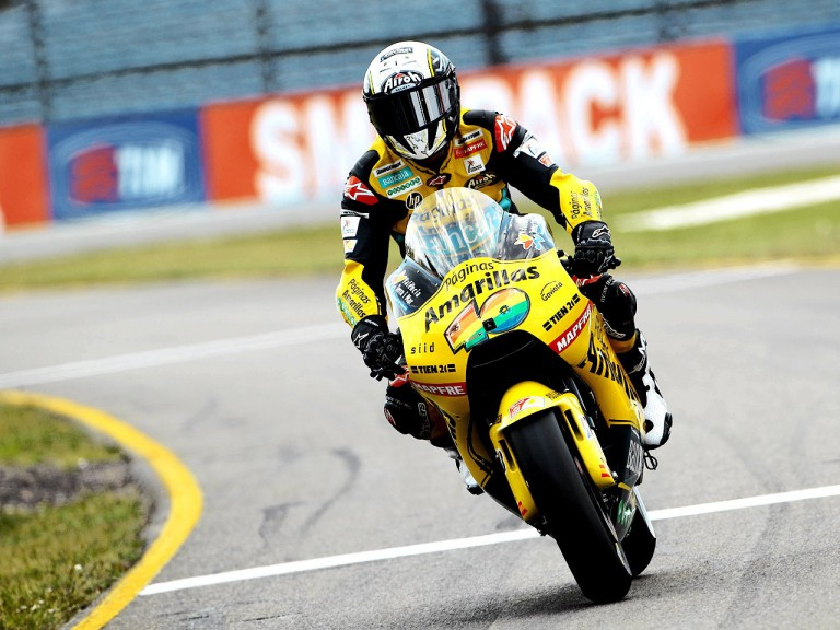 Héctor Barberá in action at Assen