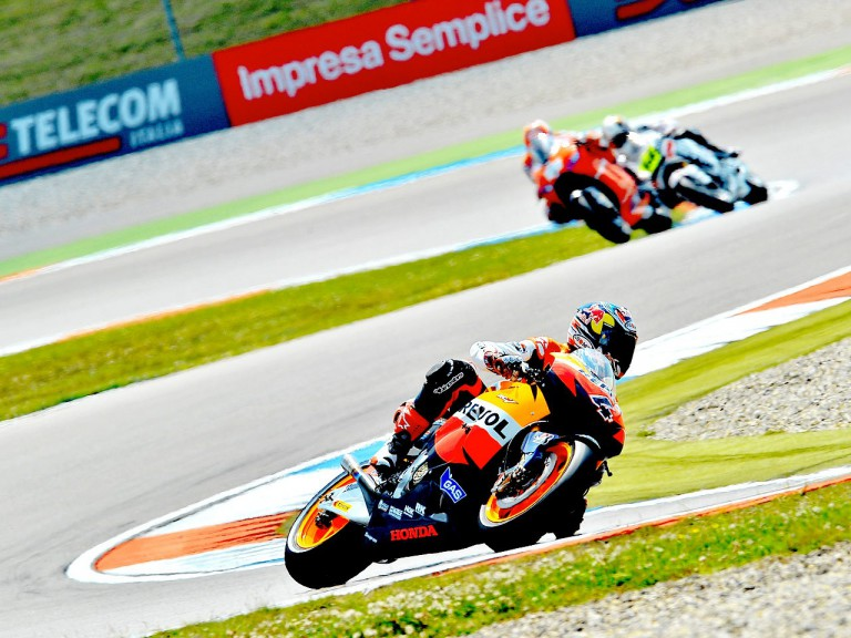 Andea Dovizioso on track at Assen