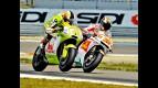 Espargaró and Melandri riding head to head during FP1 at Assen