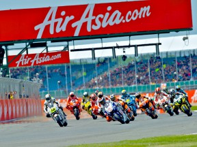 MotoGP group in action at Silverstone