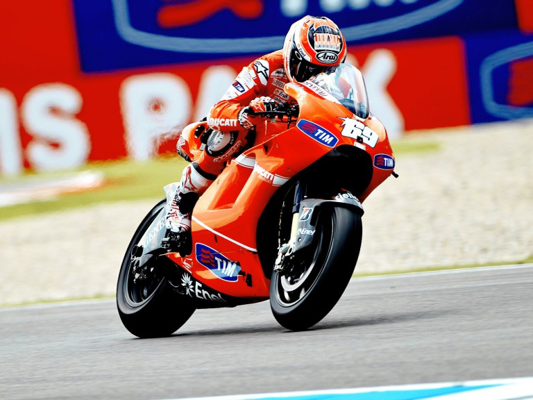 Nicky Hayden on track at Assen
