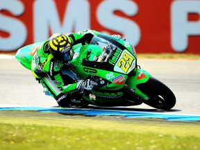Andrea Iannone on track in Assen